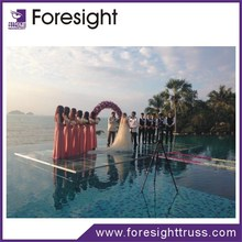 Factory direct sale aluminum frame with glass platform for wedding