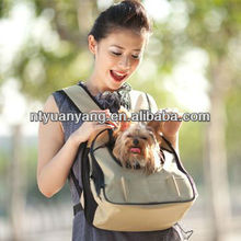 soft fabric pet animal traveler front dog carrier