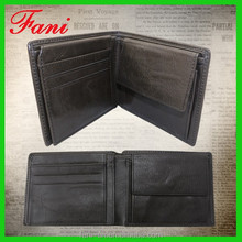 Plain line and multi card holder design leather wallets for men with coin pocket