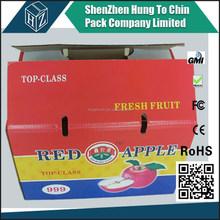 Fabricant fournisseur usine gros imprimé carton de fruits boîte de pommes pour les ventes
