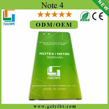 Guangzhou mobile phone accessories battery for samsung note 4 popular selling in dubai