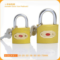 TOP SECURITY!!!!Iron Padlock Plated Golden Color With 3 normal key ultra lock craft lock
