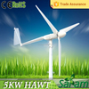 Residential rated output 5KW max 8KW electric motor wind turbine