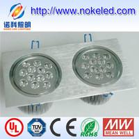 24w double lamp led intumescent downlight art deco light fixtures indoor