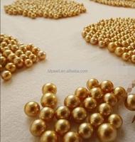gold south sea round no hole beads