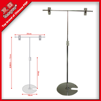 round base metal pop belt clip display stand