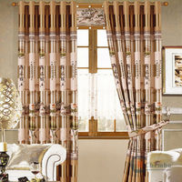 2014 china wholesale ready made curtain linen cafe curtains