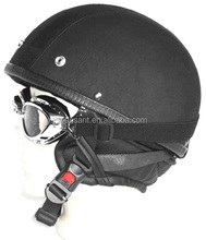 2015 half motorcycle leather vintage helmet