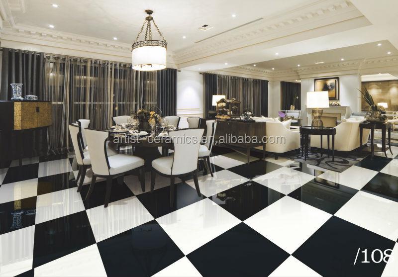 Tessera in bianco e nero pavimento nero pista da ballo in bianco e ...