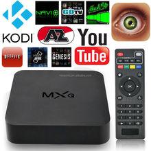 1G/8G ROM Amlogic S805 QuadCore KODI MXQ TV Box Android 4.4 H.265 Wifi LAN Miracast Airplay