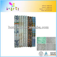 Decorative clear pvc table cover/self adhesive clear pvc table cover
