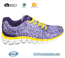 mesh upper with printing phylon outsole sport shoes women girls