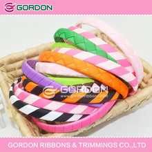 headband/pre-tied bows with elastic band/Wholesale plastic headband