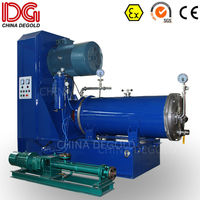 DEGOLD 300L Ex proof wet double mechanical seal nano mold steel grinding cylinder&disk horizontal bead mill