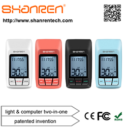 ShanRen Patented invention latest design 9 function rechargeable CREE gps bicycle computer