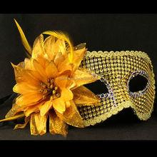 China Wholesale alluring Feather flowers rhinestone mask