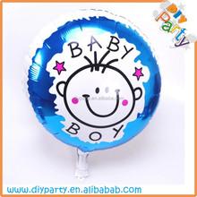 "18"" round shape baby boy born foil balloon"