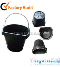 flat side bucket rubber feed buckets Tyre rubber pail rubber pail 18QT