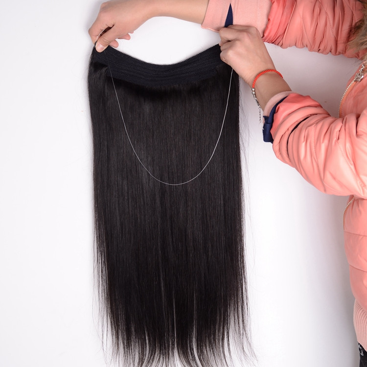Factory Wholesale Soft Indian Hair Light And Dark Colors Fish Wire ...