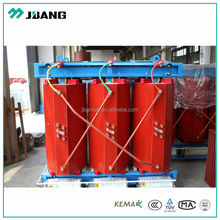 20KV/0.4KV 50~3150KVA Fire-proof grade resin insulation dry-type power transformer indoor use with case