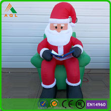 book reading hot Inflatable Santa, Inflatabel Father Christmas /Inflatable Christmas gifts Santa Claus
