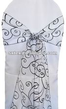 100%Polyester Embroidered Organza Chair Sash For Hotel/Wedding/Party