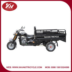 Fashion good quality cheap air-cooled black 3 wheel motor tricycle/motorcycle