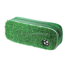Green Grass with Football Theme Pencil Bag suitable for back to school activities