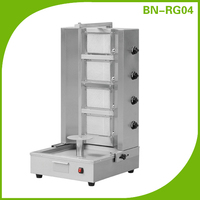 Vertical Broiler Gas Gyro Shawarma Machine 4 Burners (adjustable distance)