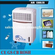 portátil de casa del refrigerador de aire cuerpo de plástico con ruedas