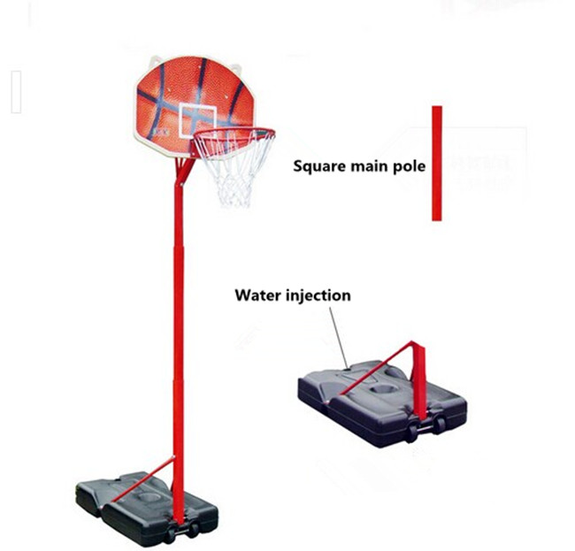 outdoor height adjustable basketball stands for kids