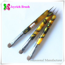 Thicker acrylic handle French nail art brush packed in Pvc Bag