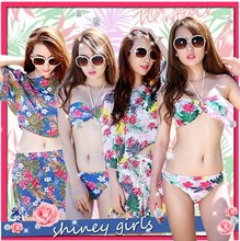 2015 latest Women Sexy Swimwear, girl flower beachwear
