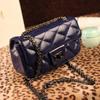 plaid leather sling cross body bag,Women's chain shoulder Mini Cross Body Bag