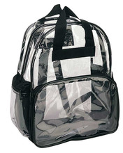 Clear Backpack with Smooth Plastic Completely Transparent Clothing