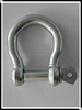 Bolt type anchor shackle with thin head bolt-nut with cotter pin G2130