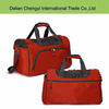 Low toxic solid color polyester travel sport tote bag with long strap
