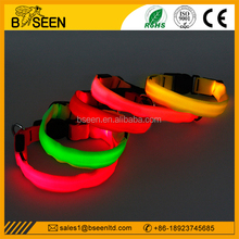 2015 unique products to sell nylon led flashing dog collar