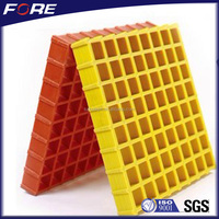 Fiberglass Solid Grille / Water Resistance FRP Grating / Tree Protection FRP Gratings