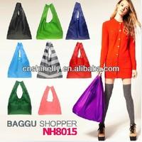 2015 folding polyester bag & shoping bag & folding polyester bag