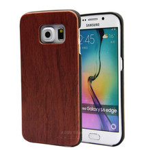 Blank wooden housing for Samsung S6 edge,plastic wood for Samsung galaxy S6 case