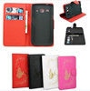 New Hand made carving butterfly wallet cover case for Samsung Galaxy Star Advance SM G350E