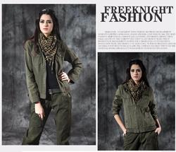 2015 latest fashion Women camo jacket