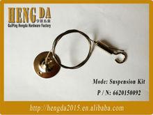 304 de acero inoxidable accesorio de iluminación perchas de alambre de la honda cuerda