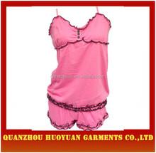 Plain tyed Women Pajama Lace Sleep Night Dress Sex Pajamas for Women Pazo Pajama