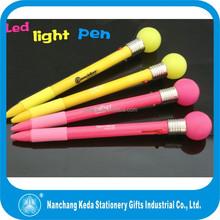 Led light flashing bulb pen light up pen