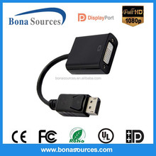 1080p displayport/ dp to dvi-d male to female converter cable for factory cheap prices