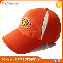 New arrival embroidery baseball cap orange winter golf hats