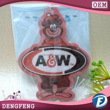 car paper hanging air freshener for advertising or promotional