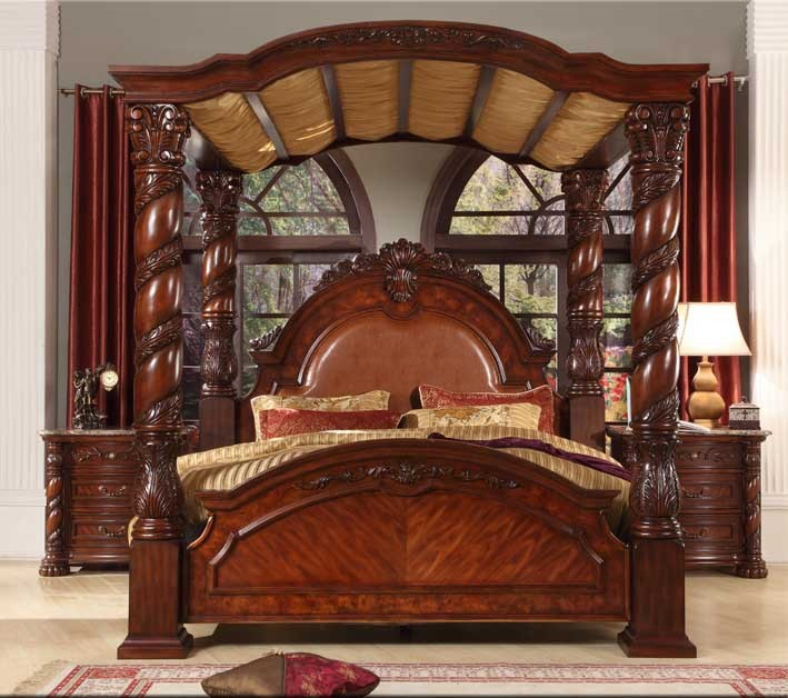 bisini new product wood bedroom set solid wood luxury king bed